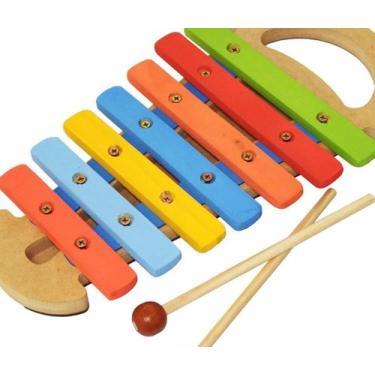 Imagem de Xilofone Infantil Musical Instrumento Educativo Com Alça - Artebrincs