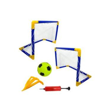 dd845d942 Futebol Portátil Kit 2 Traves Bola Bombinha Infladora Jogo Bel Blx8 4880