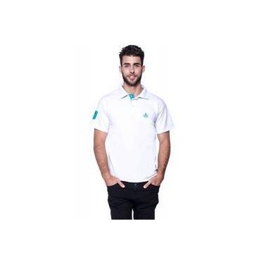 5723785846104 Polo Masculina Branca Com Detalhes Verde-Oriente Otto