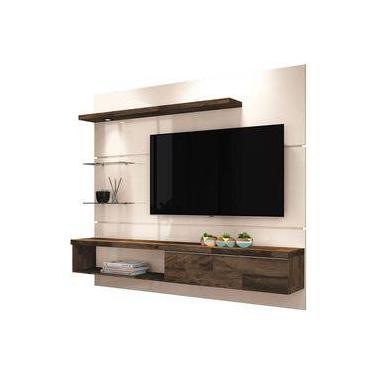 Painel Suspenso com Bancada Ores 1.8 Off White/Deck - HB Móveis