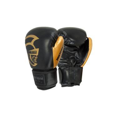 Luva Boxe Muay Thai -  Black Line Gold Edition - Pretorian - Ouro - 12 oz