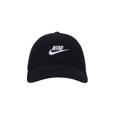 b75608432564c Boné Aba Curva Nike Sportswear H86 Futura Washed - Strapback - Adulto -  PRETO Nike