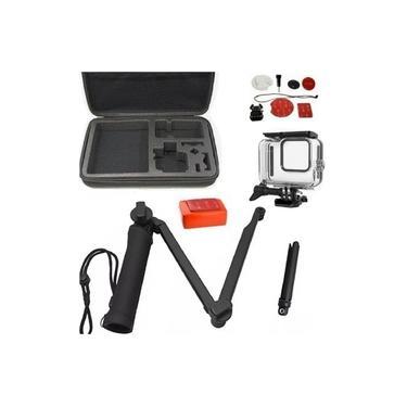 Kit Com Suportes Para GoPro Hero 8 Maleta Grande Caixa Estanque Bastão 3 Way Com Mini Tripé Acessórios Para Surf Boia 3M
