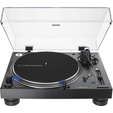 Toca-Discos Audio-Technica Audio-Technica Manual DJ Profissional AT-LP140XP-BK Direct-Drive com cartucho AT-XP3, Preto