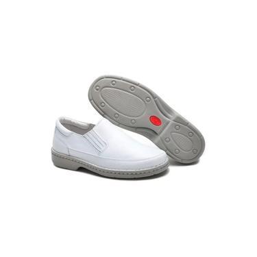 Sapato Social Masculino Ortopédico Em Couro Branco Para Médicos Enfermeiros Dentista Cr1005