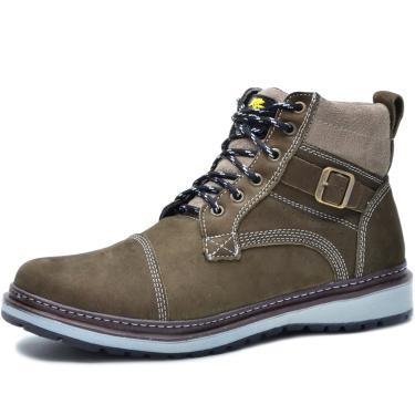 Bota Worker Over Boots Couro Chumbo Urban  masculino