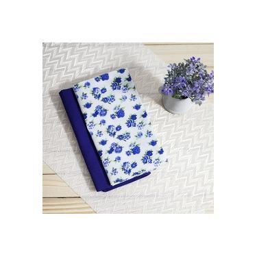 Guardanapo Tricoline Floral Azul Safira