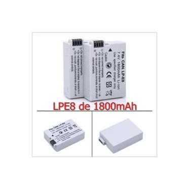 Imagem de Bateria Canon LPE8 compatível 1800mAh para T2i T3i T4i T5i Kiss X4 X5 700d