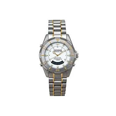 Relógio Masculino Aço Bicolor Skydiver Professional T20557 9B - Technos 583db9baa3