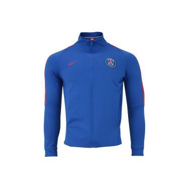 Jaqueta PSG Sportswear Authentic Nike - Masculina - AZUL VERMELHO Nike 891331f5dc8f8