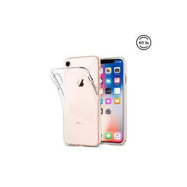 Kit 3 Capinhas Cases Ultra-slim Transparentes - Capas Iphone Xr
