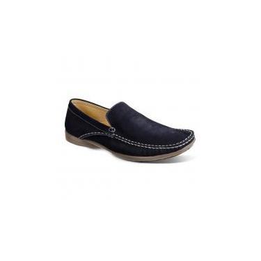 Sapato masculino mocassim sandro moscoloni new port azul blue -