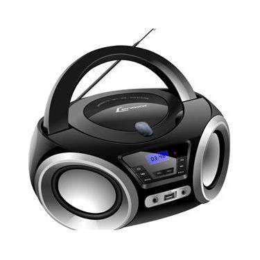 Boombox Lenoxx Bd1370 Com Bluetooth,Cd,Usb,Fm Preto/Prata