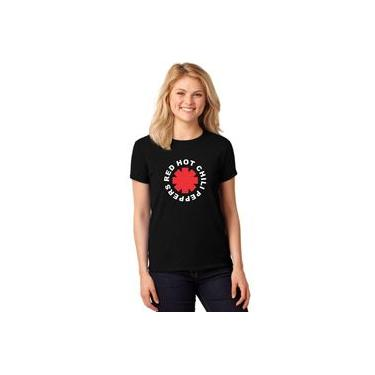 Camiseta Feminina T-shirt Red Hot Chili Peppers Baby Look Er_016