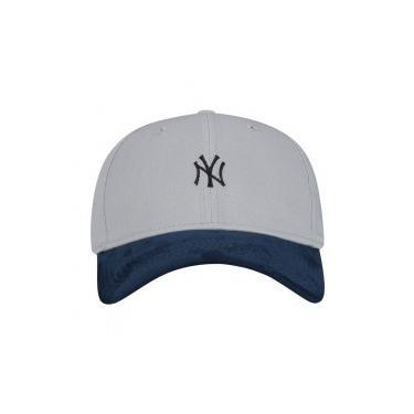 Boné Aba Curva New Era New York Yankees Mini Logo - Fechado - Adulto - CINZA  CLARO New Era 46f5f60a51f