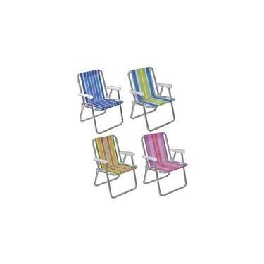 Cadeira Praia Alta Aluminio - Mor