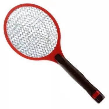 Raquete Elétrica Bivolt Vermelha Mata Pernilongo-Inseto