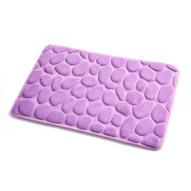 Imagem de Beacon Pet Tapete de banheiro antiderrapante resistente a escorregões, extra absorvente, macio e fofo, grosso, listrado, tapete de banheiro de microfibra, antiderrapante, tapete de banheiro macio, impermeável, 50,8 x 78,7 cm, rosa