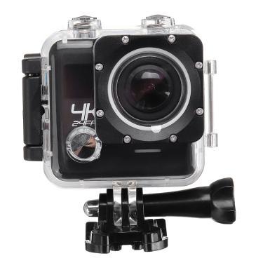 Imagem de Wifi 4K 30 Frames Double Lens Sports Camera DV Gravador de exterior com Controle Remoto à prova dágua Banggood