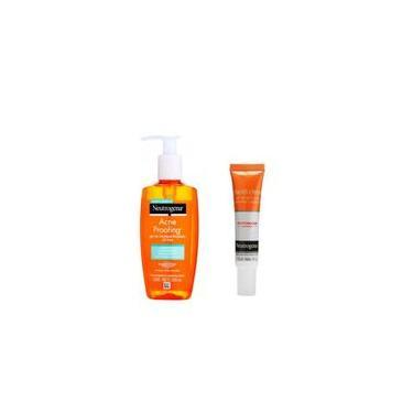 Imagem de Kit Sabonete Gel de Limpeza Facial Acne Proofing + Gel Secativo Para Espinhas Neutrogena 15g