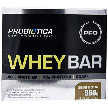 Imagem de Whey Bar High Protein, Probiótica, Cookies & Cream, 40 G, 24 Unidades