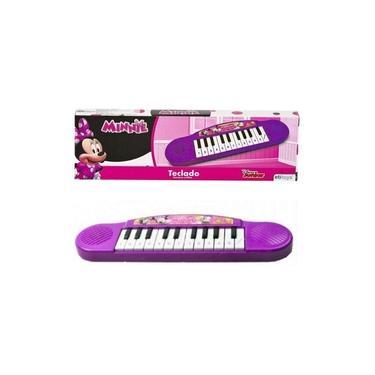 Imagem de Teclado Piano Infantil Minnie Som Disney Original Licenciado