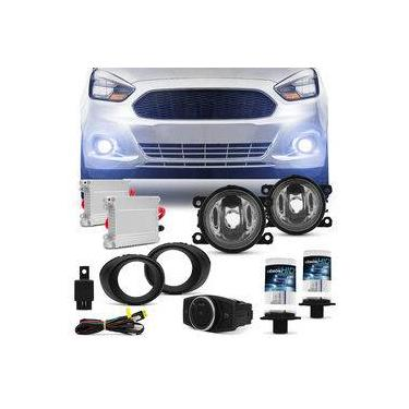 Kit Farol Milha Ford Ka 15 a 17 Auxiliar Neblina com Par Xênon H11 8000K Reator Anti Flicker
