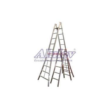Escada Alumínio Pintor 11 Degraus - 3,60 m (Alulev)