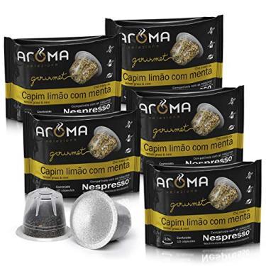 Kit Cápsulas de CháCapim-Limão com Menta Aroma - Compatíveis com Nespresso® - 50 un.