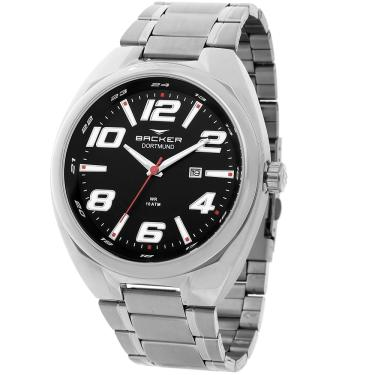 37e2555e98b Relógio Masculino Backer Analógico 6491253M - Prata