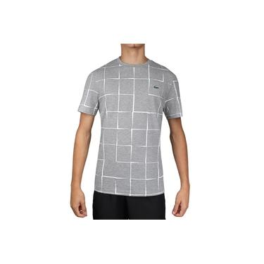 Camiseta Lacoste Tennis 2 TH2142 Performance Cinza e Branca