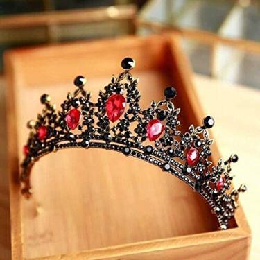 Imagem de Tiara Rainha Vermelha Coroa de Casamento Festa de Festa de Formatura