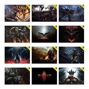Placas Decorativas 30x20cm Diablo 3 Blizzard Reaper Of Souls