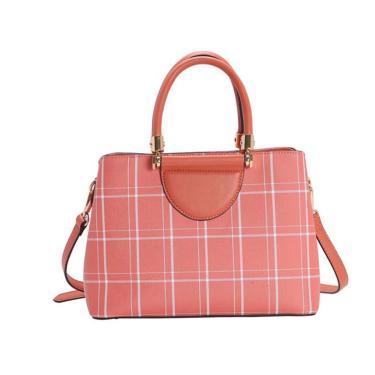 Bolsa Feminina Chenson Xadrez Lady Coral 3483206  feminino
