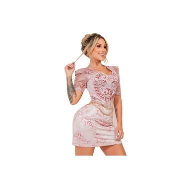 41107 Vestido t shirt animal print Rose Pit Bull Jeans