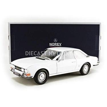 Imagem de 1969 Peugeot 504 Coupe Arosa White 1/18 Diecast Model Car by Norev