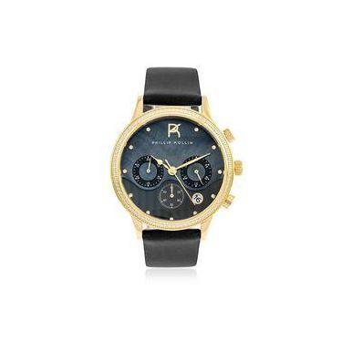 b53db72b258 Relógio Feminino Phillip Kollin Santorini ZY28001P Gold Black