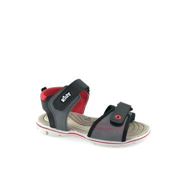 Sandália Emborrachado Antiderrapante Infantil Wave Kidy 02104326584 Preto-grafite-vermelho