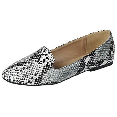 Sapatos femininos Forever Link de balé Diana-81, Snake, 7.5