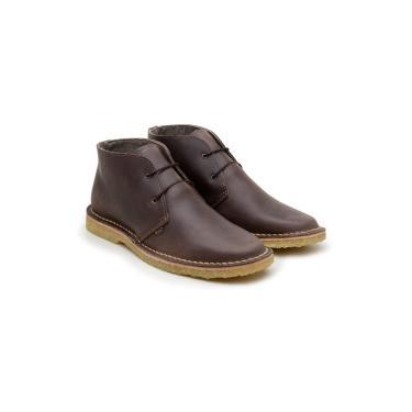 Bota Desert Boots 775 Café em Couro Sola Crepe  unissex