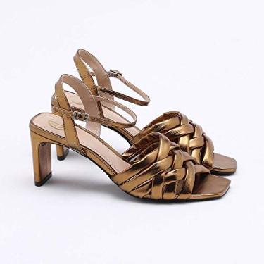 Sandália Metalizada Bronze 35
