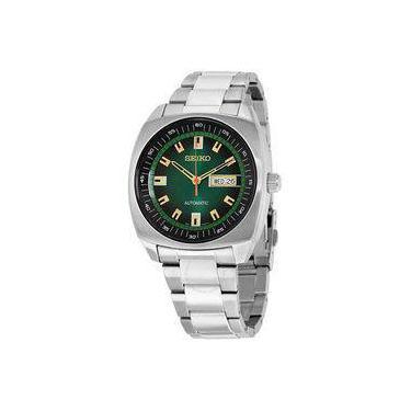 82de3ae119c Relógio Seiko Masculino Automático Snkm97 Verde Aço
