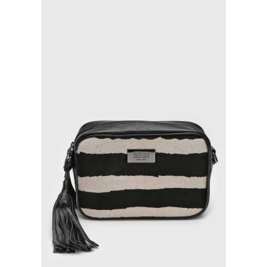 Bolsa Santa Lolla Zebra Tassel Preta/Off-White Santa Lolla 0452.1F3E.02E1.00AA feminino