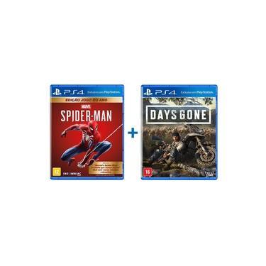 Marvels Spider Man Edição Jogo do Ano + Days Gone - PS4
