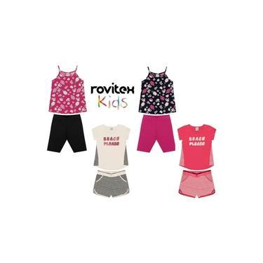 Roupas de Calor Infantil Menina Kit 04 Conjuntos da Marca Kyly Brandili E Rovitex