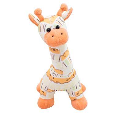 Imagem de Girafa Laranja Em Pé 22cm - Pelúcia