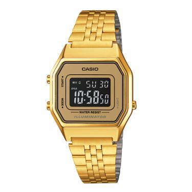 c02b4f93905 Relógio Casio Vintage Unissex Dourado Digital LA680WGA-9BDF