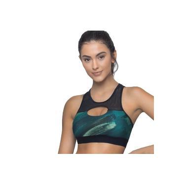 Top Selene Fitness Com Bojo Feminino - Verde