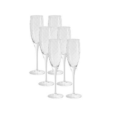 Conjunto de Taças para Espumante Oxford Crystal M.Order - Linha 517T Twist 240ml - 6 Peças