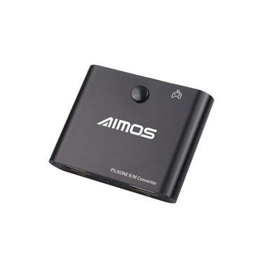 AIMOS AM-PS401 Adaptador Conversor de Teclado e Mouse para Controlador de Jogo Plug & Play para PS4 / PS4 Pro / Slim / Xbox One / Xboxone S / X / PS3